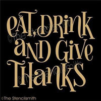 4686 - eat drink and give thanks