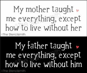 4825 - my mother/father taught me