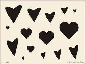 Hearts 9x12 picture sheet