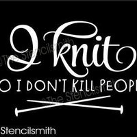 5433 - I knit so I don't