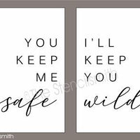 5462 - You keep me safe I'll keep - 2pc set