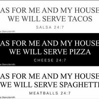 5584 - As for me and my house tacos / pizza