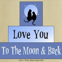 566 - Love You To The Moon Back - block set