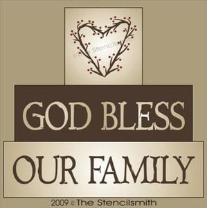 590 - God Bless Our Family - block set