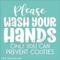 6129 - please wash your hands only you