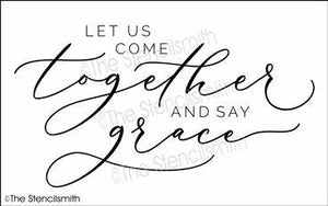 6210 - let us come together and say grace