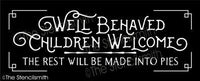 6232 - well behaved children welcome