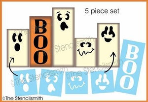 6241 - BOO Ghost Faces - 5pc set