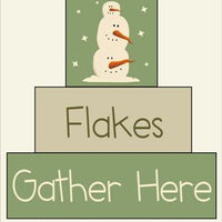 631 - Flakes Gather Here - BLOCK Stencil