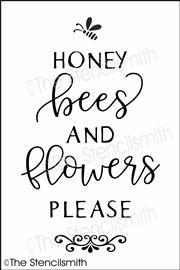 6512 - honey bees and flowers please