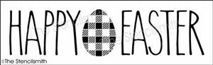 6564 - Happy Easter (plaid egg)