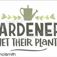 6691 - Gardeners Wet Their Plants
