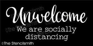 6716 - Unwelcome we are socially distancing