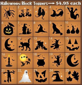 724 - Halloween Block Toppers