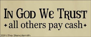 733 - In God We Trust - others pay cash