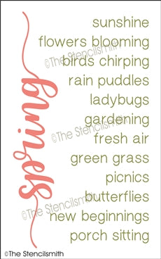 spring reusable stencil