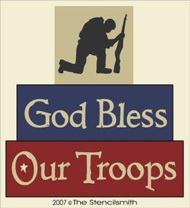 890 - God Bless Our Troops - BLOCKS