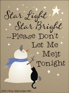 937 - Star light Star bright  snowman