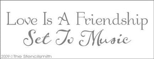 954 - Love is Friendship Set to Music