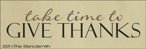 973 - take time to Give Thanks