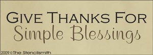 978 - Give Thanks for simple blessings