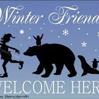 987 - Winter Friends Welcome Here