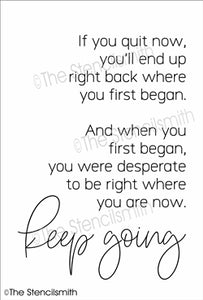 6752 - If you quit now ...keep going