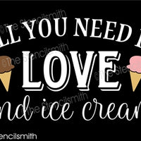 6883 - all you need is LOVE and ice cream