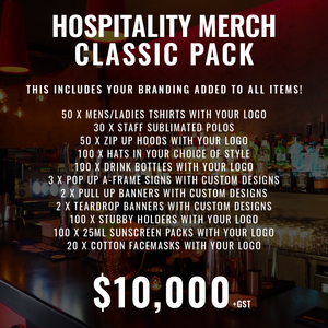 Hospitality Merch Classic Pack - 550+ items!