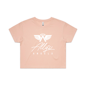 ALLY'S ANGELS & ALPHAS - WOMENS CROP TEE
