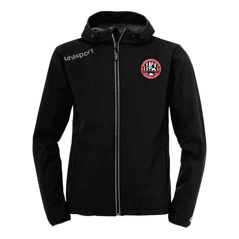 MUFC Black Soft Shell Jacket (Senior Sizes)