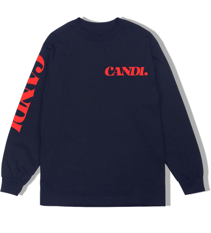 """BASICS"" LONG NAVY RED"