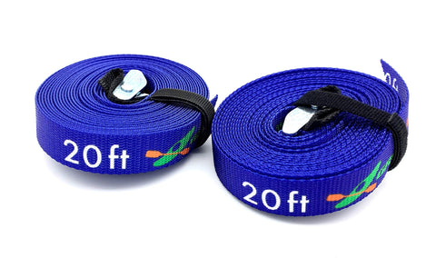 Tie Down Straps Heavy Duty w/Wrap & Cam Buckle Pad (2pk) | Paddle Board & Kay...