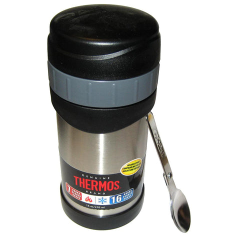 Thermos 16oz Stainless Steel Food Jar w/Folding Spoon - 7 Hours Hot/9 Hours Cold [2340SSW4]