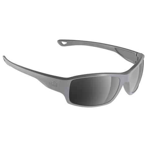 H2Optix Beachwalker Sunglasses Matt Grey, Grey Silver Flash Mirror Lens Cat. 3 - AR Coating [H2037]
