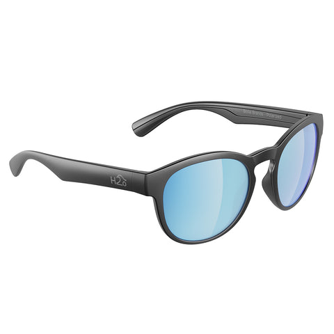 H2Optix Caladesi Sunglasses Matt Gun Metal, Grey Blue Flash Mirror Lens Cat. 3 - AR Coating [H2041]