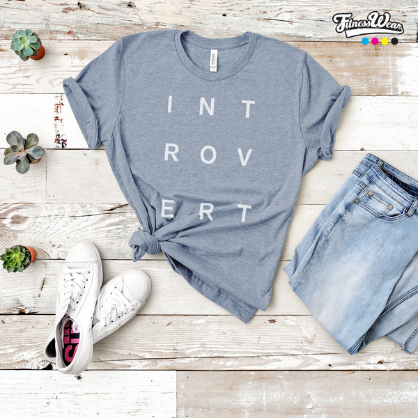 INTROVERT Typographic T-Shirt