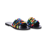 Corashoes Multicolor Flat Heel Slide Open Toe Fashion Summer Slippers