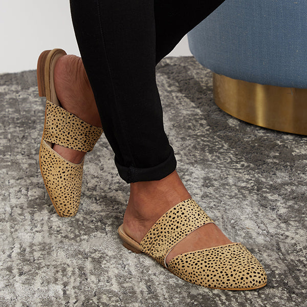 Corashoes Brown Speckled Simple Chic Slippers