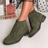 Corashoes Fashion Suede Elastic Band Boots