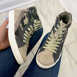 Corashoes Matchmaker Tup Camo High Top Wedge Sneakers