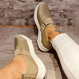 Corashoes Solid Color Round Toe Sneakers