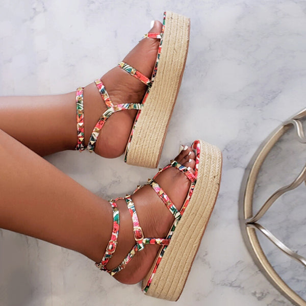 Corashoes Espadrille Studded Sandals