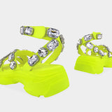 Corashoes Gem Decorated Thick Sole Sandals
