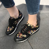Corashoes Cute Patterned Fabric Flat Sneakers