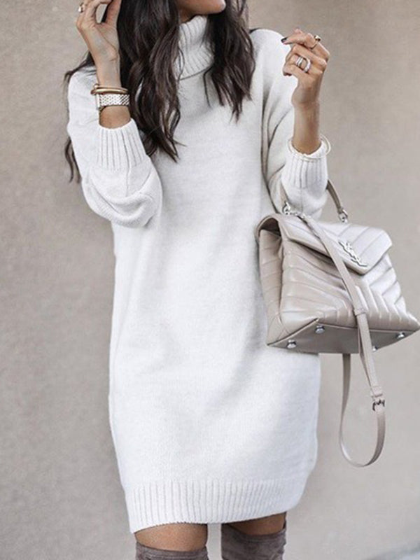 Corashoes Turtleneck Long Sweater