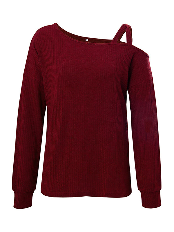 Corashoes Women Long Sleeve Off The Shoulder T-Shirt