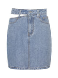 Corashoes One Side Cutout Denim Skirt