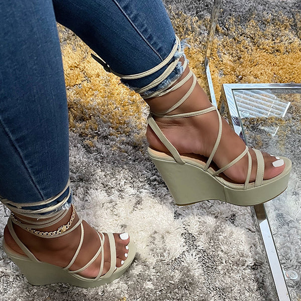 Corashoes Women Cool Slope Heel Sandals