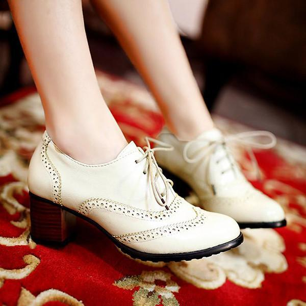 Corashoes British Style Carved Classy Lace Up Oxford Shoes